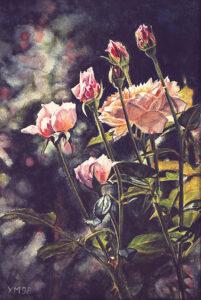 Abriéndose el camino (1998), watercolour 23 x 18,5 cm - Sold
