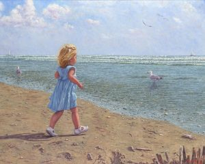 Little Princess/Royal Blues, oil on linen, 70 x 90 cm Euro 4450 (currently available at Gallery Rijlaarsdam, The Netherlands)