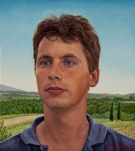 Edoardo, nr. 3 of the triptych 'An Italian Family' (2003, by commission), oil on linen, 36 x 40 cm - Sold