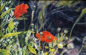 En el barranco de Guayadeque, G.C. (1998), watercolour 16 x 24,5 cm - Sold