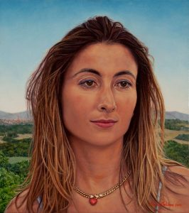 Giovanna, nr. 1 of the triptych 'An Italian Family' (2003, by commission) oil on linen, 36 x 40 cm - Sold
