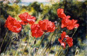 Nel giardino della Toscana (1998), watercolour 16 x 25 cm - Sold