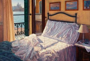 Yvonne Melchers Room with a View/Autumn in Venice, oil on linen, 80 x 115 cm- Price on request