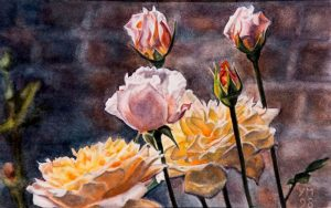 Sol y Sombra (1998), watercolour 4 x 22 cm - Sold