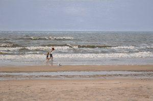 Summer Wind II/North Sea Blues, oil on linen 40x60cm (2000) - Sold