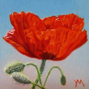 Yvonne Melchers, Spring Dance IV, oil on panel 14 x 14 cm - Euro 495